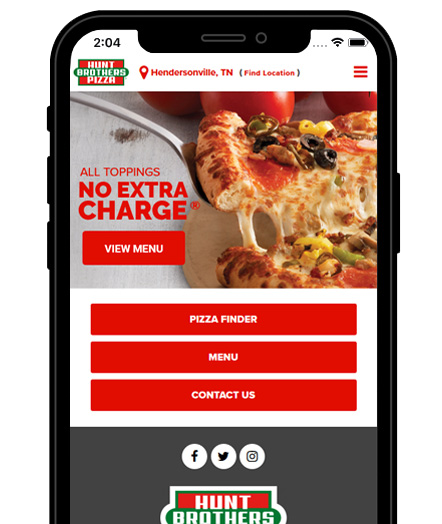 Hunt Brothers Pizza App